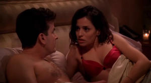 Emmanuelle Vaugier - Two and a Half Men (cleavage,sexy)