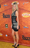 Marisa Miller shows legs and huge cleavage in low-cut black dress at Spike TV's 2nd Annual Guys Choice Awards