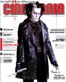 Tim Burton & Johnny Depp plus the rest of male Sweeney Todd cast (Cinemania Argentina Magazine Scans