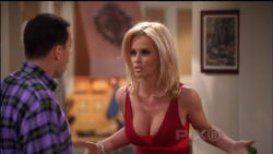 Jenny McCarthy:Huge Cleavage on 2 1/2Men - Episode &amp;quot;Ow Ow,Don't Stop&amp;quot;