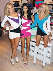 Candice Swanepoel, Erin Heatherton and Chanel Iman promoting the Incredible Bra at Victoria's Secret store in SoHo NYC - Hot Celebs Home